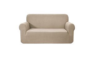 High Stretch Sofa Cover Couch Protector Slipcovers 2 Seater Sand