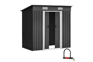 1.94 x 1.21m metal Tool Shed - Grey - Brand New - Free Shipping