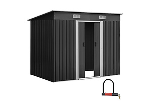 Giantz 2.35 x 1.31m Steel Garden Shed - Grey - Free Shipping