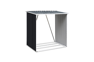 Log Firewood Storage Shed Galvanised Steel Garden Outdoor 2m³ Shelter 163x83x154CM - Brand New - Free Shipping