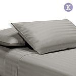 King Size 4 Piece Bedsheet Set - Grey - Free Shipping