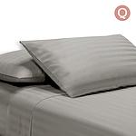 Queen Size 4 Piece Bedsheet Set - Grey - Free Shipping