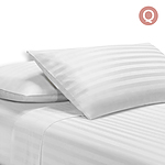 Queen Size 4 Piece Bedsheet Set - White - Free Shipping