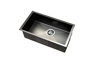450 x 300mm Stainless Steel Sink - Black