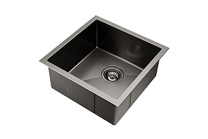 Kitchen Sink with Waste Strainer Black - 44 x 44cm - Brand New