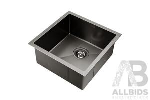Kitchen Sink with Waste Strainer Black - 44 x 44cm - Brand New - Free Shipping