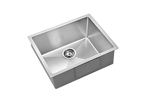 540x440mm Stainless Steel Kitchen Laundry Sink Single Bowl Nano Silver - Brand New - Free Shipping