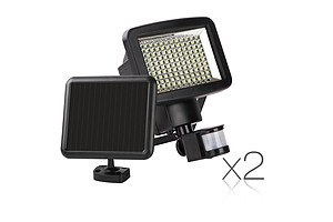 Set of 2 120 LED Solar Sensor Outdoor Light - Free Shipping