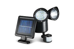 22 LED Solar Powered Dual Flood Lamp - Free Shipping