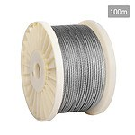 7 x 7 Marine Stainless Steel Wire Rope 100M - Brand New