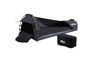 Camping Swags Single Biker Swag Grey Ripstop Canvas - Brand New - Free Shipping