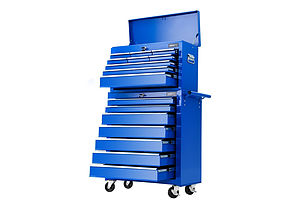 Tool Chest and Trolley Box Cabinet 16 Drawers Cart Garage Storage Blue - Brand New - Free Shipping