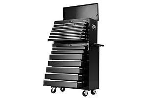 17 Drawers Tool Box Trolley Chest Cabinet Cart Garage Mechanic Toolbox Black - Brand New - Free Shipping