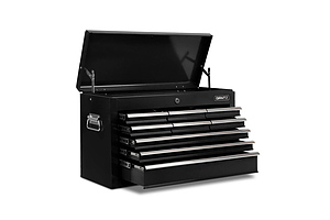 9 Drawers Tool Box Chest Black - Free Shipping