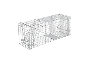 Humane Animal Trap Cage 94 x 34 x 36cm  - Silver - Brand New - Free Shipping