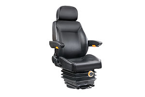Adjustbale Tractor Seat with Suspension - Black - Brand New - Free Shipping