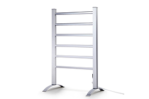 Electric Heated Towel Rail Rails Warmer Rack Aluminium Bar Bathroom - Brand New - Free Shipping