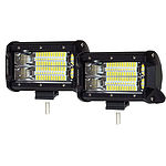 Pair 5Inch 72W CREE LED Light Bar Flood Beam Offroad Work Driving 4Wd - Brand New