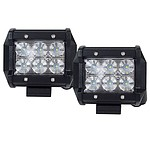 Pair 4inch 30W CREE LED Light Bar Flood Beam Offroad Work Lamp Save On 35with45W - Brand New + 'image'