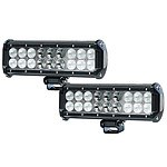 2X 9Inch 90W CREE LED Light Bar Spot Flood Offroad Driving Work Lamp 4WD SV 120W - Brand New