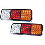 Pair LED Tail Stop Indicator Combination Lamp Submersible Light 12V Adr 75LED - Brand New