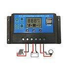 30A 12V-24V LCD Display PWM Solar Panel Regulator Charge Controller & Timer PWN - Brand New