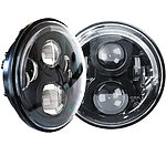 Pair 7Inch LED Headlights Halo 60W 40W Signal Drl For 97-16 Jeep Wrangler Jk - Brand New