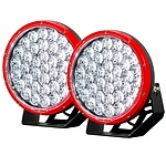 2X 9INCH 370W CREE LED DRIVING LIGHT RED - Brand New
