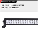 Lightfox 42inch 240W CREE LED Light Bar Spot Flood Combo Offroad Driving 4x4