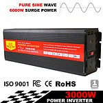 Pure Sine Wave 3000W Max 6000W 12V-240V Power Inverter Car Caravan Camping Boat - Brand New