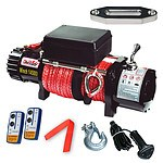 14500LBS Electric Winch 26M Synthetic Rope 6577KG 12V Wireless Remote 4WD 4X4 - Brand New
