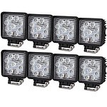 8Pcs 45W Flood Cree Led Work Light Offroad Reversing Lamp Bar Truck Boat 12V 24V - Brand New