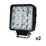2x 80W LED Work Light Flood Lamp Offroad Tractor Truck 4WD SUV Philips Lumileds - Brand New