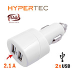 HYPERTEC USB Dual Car Charger - Brand New