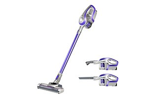 Cordless Rechargeable Vacuum Cleaner Stick - Purple & Grey - Free Shipping