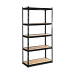 Giantz 5 Tier Shelving Unit - Black - Free Shipping