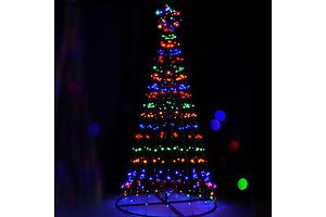 Jingle Jollys 2.1M LED Christmas Tree Lights Multi Colour - Free Shipping