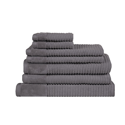 Royal Excellency 600GSM 7PC Bath Linen Set - Charcoal - Free Shipping - RRP: $158.65