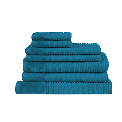 Royal Excellency 600GSM 7PC Bath Linen Set - Teal - Free Shipping - RRP: $158.65