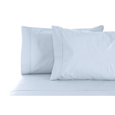 1000TC Style De Vie 100% Cotton Sheet sets Queen Powder Blue - Powder Blue - Free Shipping - RRP: $279.95