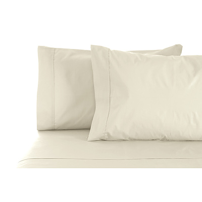 1000TC Style De Vie 100% Cotton Sheet sets Queen - Plaster - Free Shipping - RRP: $279.95