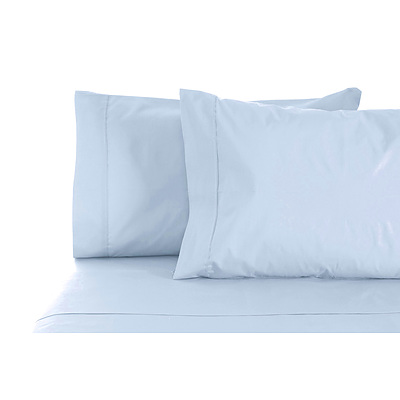Jenny Mclean La Via Sheet Set 100% Cotton Double 400Tc - Sea-Foam - Free Shipping - RRP: $169.95