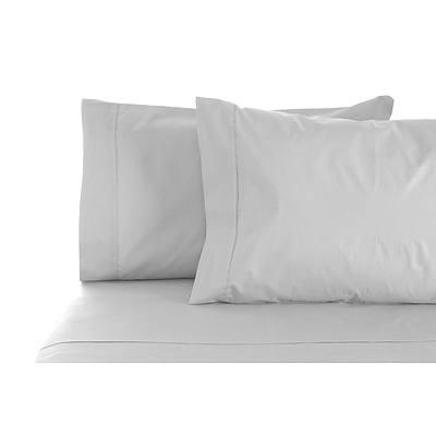Jenny Mclean La Via Sheet Set 100% Cotton Double 400Tc - Silver - Free Shipping - RRP: $169.95