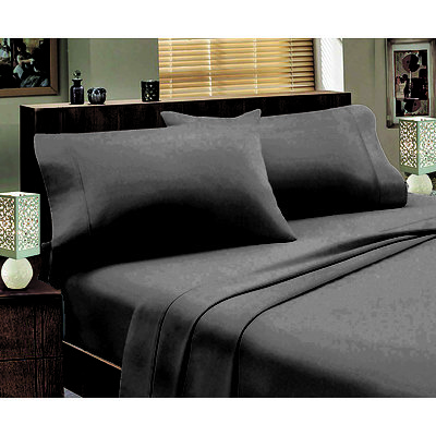 Abrazo Flannelette 175GSM Egyptian Cotton Sheet set King - Silver - Free Shipping - RRP: $139.95