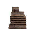 Jenny Mclean Royal Excellency 600GSM 14PC Bath Linen Set Mocha - RRP $317 - Brand New