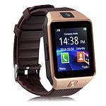 Smart Phone Watch 1.56 inch Touch LCD Micro Sim Input Bluetooth Camera - Gold - RRP $50 - Brand New