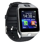Smart Phone Watch 1.56 inch Touch LCD Micro Sim Input Bluetooth Camera - Silver - RRP $50 - Brand New