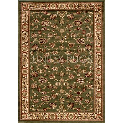 Green & Ivory Power Loomed Durable Easy Care Traditional Rug 170 x 120cm by Rug Culture + ' image'