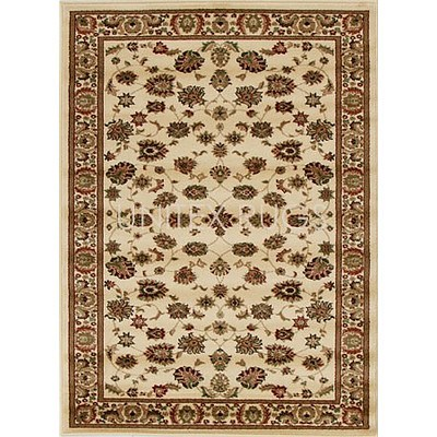 Ivory Power Loomed Durable Easy Care Traditional Rug 170 x 120cm by Rug Culture + ' image'