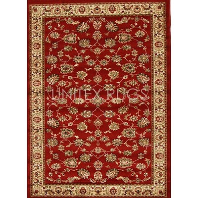 Red & Ivory Power Loomed Durable Easy Care Traditional Rug 170 x 120cm by Rug Culture + ' image'